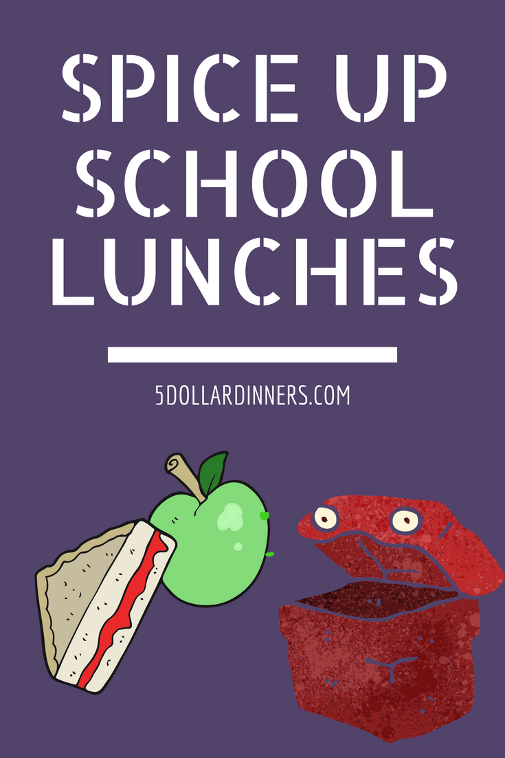 Spice Up School Lunches from 5DollarDinners.com