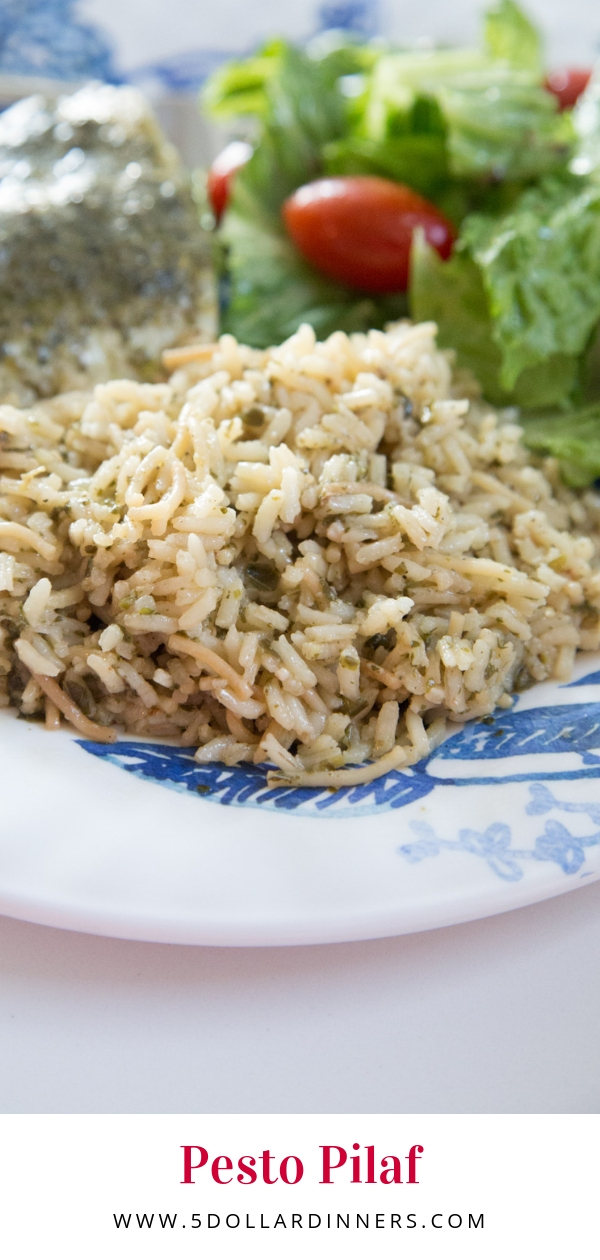 Pesto Pilaf is the perfect side dish for any entree | $ 5 Dinners