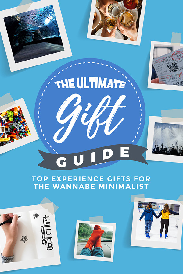 experience gifts for wannabe minimalists