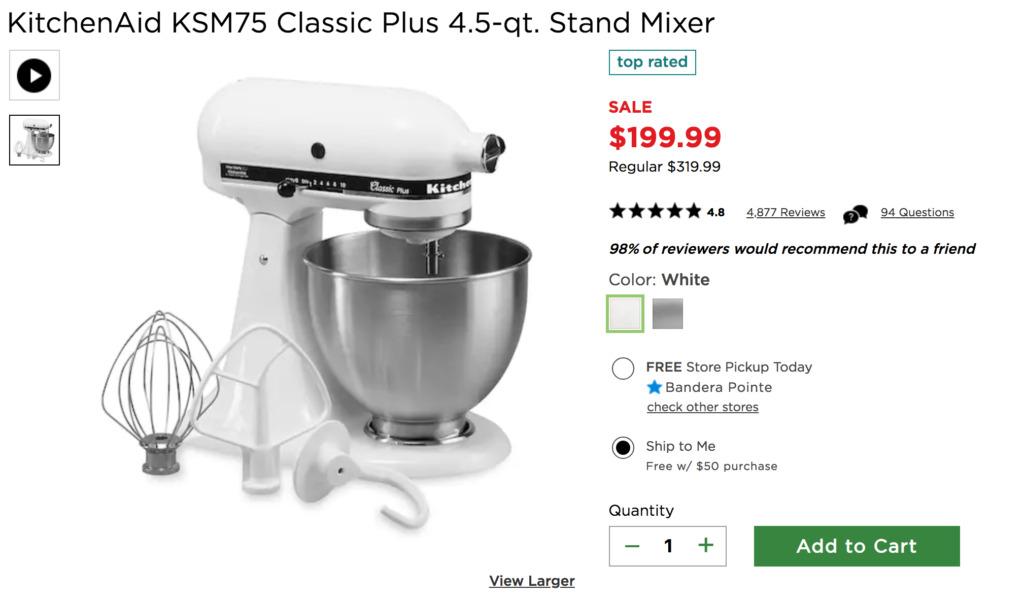 Kitchen Aid Stand Mixer Deals Kohl S Black Friday 2018