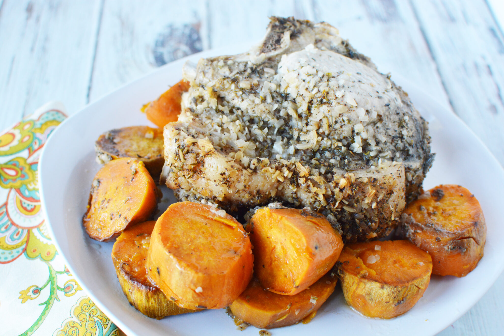 Slow Cooker Italian Pork & Sweet Potatoes a great weeknight meal and you can find it on 5DollarDinners.com