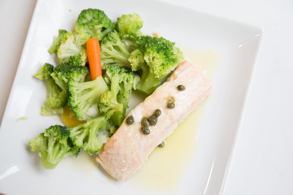 Slow Cooker Salmon with Lemon-Caper Sauce and all its goodness can be found on 5DollarDinners.Com