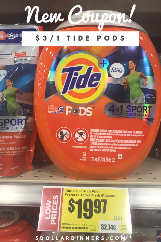 Print Now 3 Off Tide Pods Coupon 5 Dinners Recipes Meal Plans Coupons