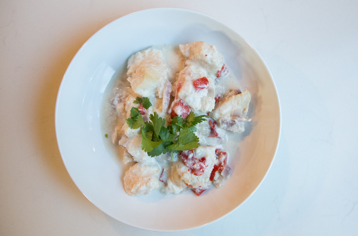 Scrumptious recipe for Coconut Lime Chicken, made in the Instant Pot!
