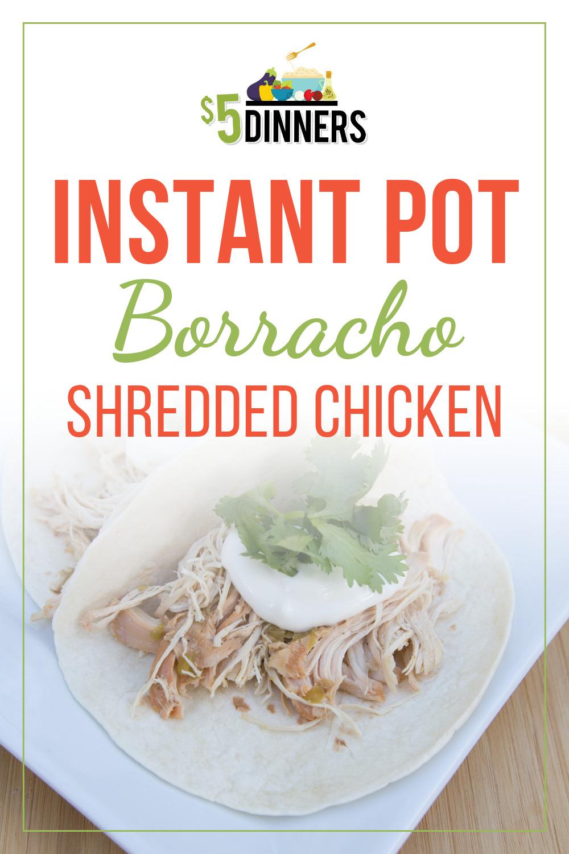 instant pot borracho shredded chicken