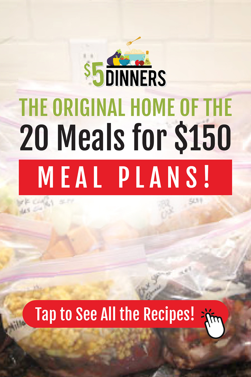 Recipe Lists For Meal Plans In 20 Meals For 150 Series