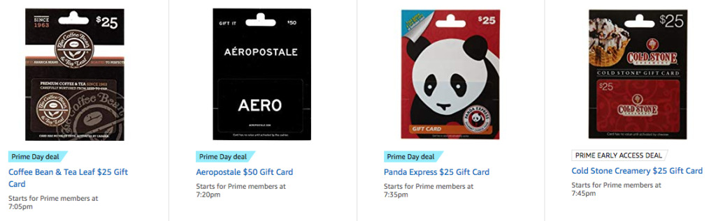 Restaurant Gift Card Deals - Prime Day