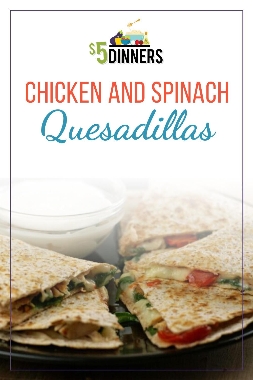 chicken and spinach quesadillas recipe
