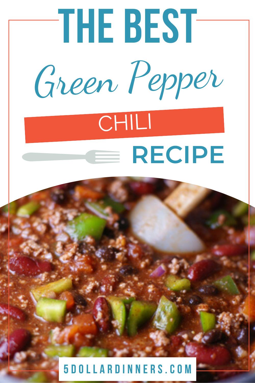 green pepper chili recipe