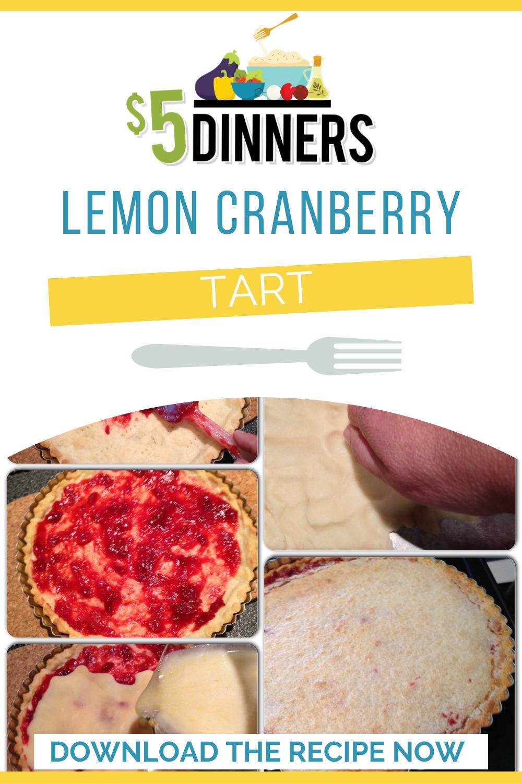 lemon cranberry tart