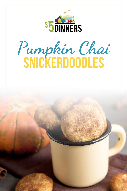 pumpkin chai snickerdoodle cookies