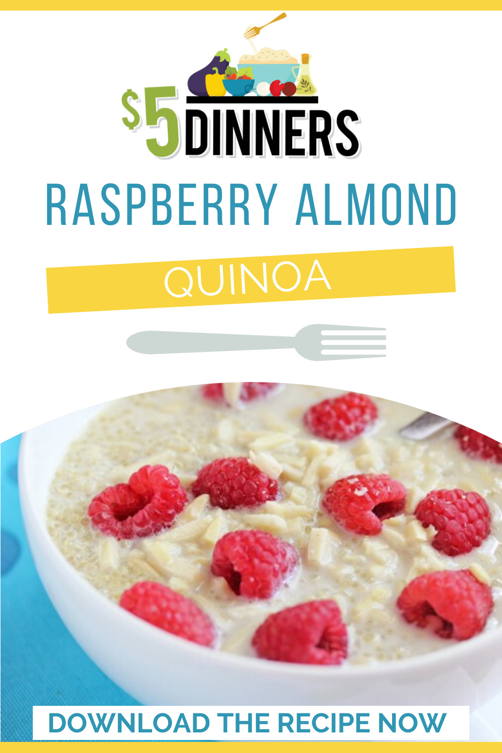 raspberry almond quinoa