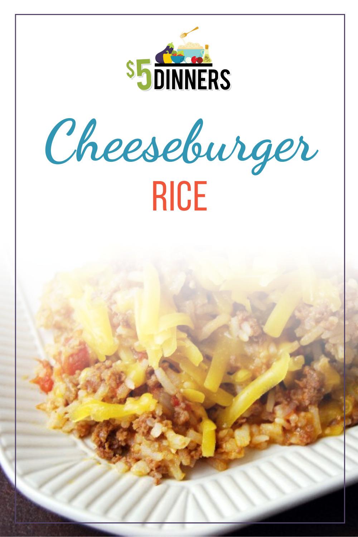 gluten free cheeseburger rice recipe