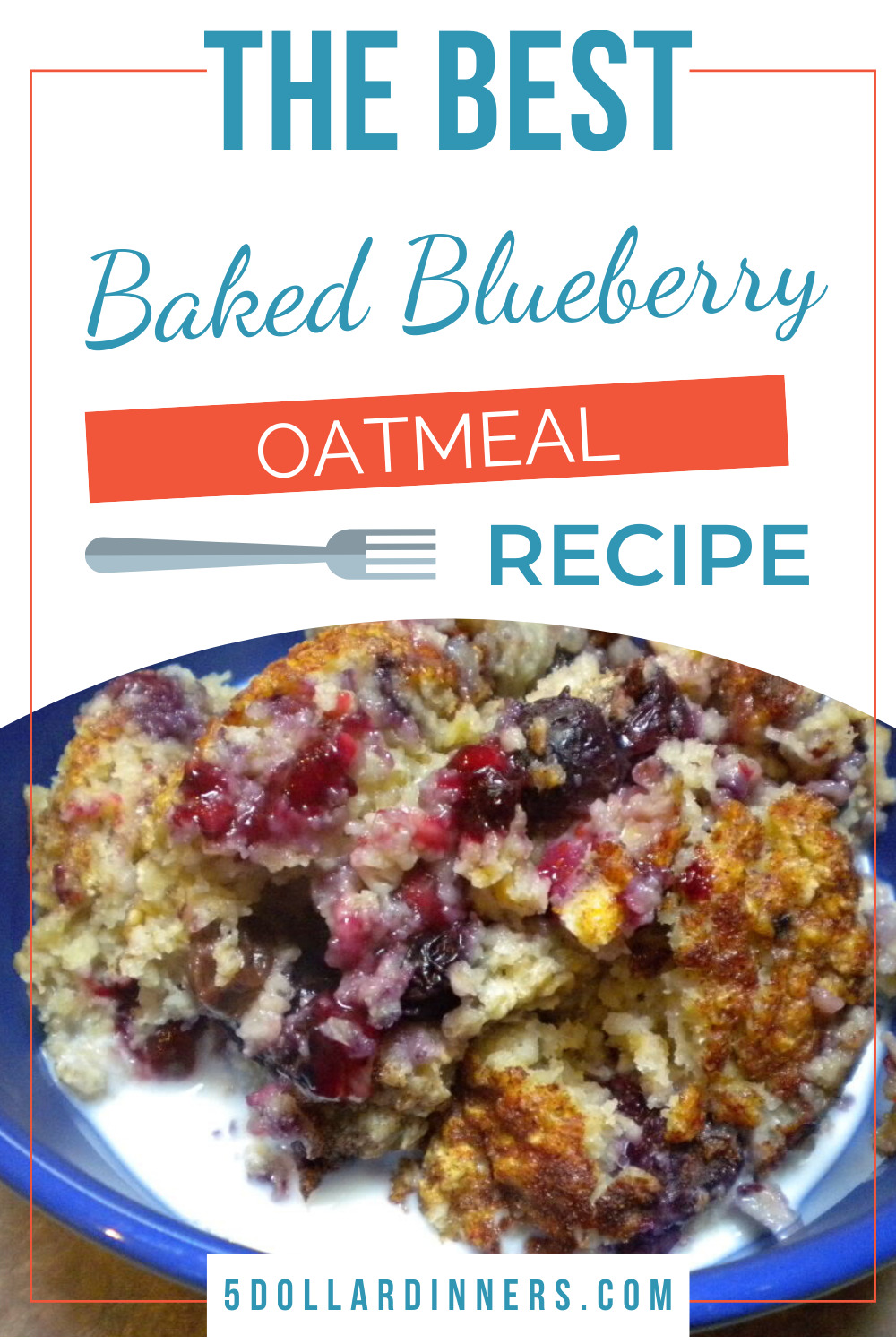 baked blueberry oatmeal