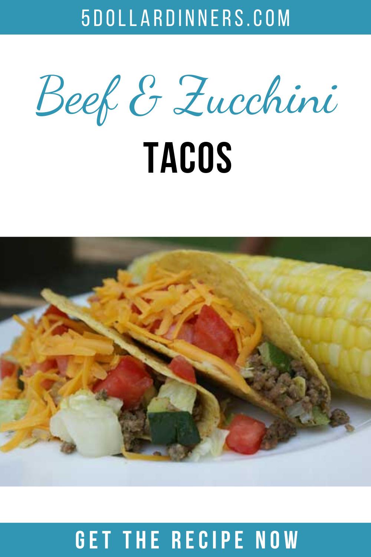 beef & zucchini taocs