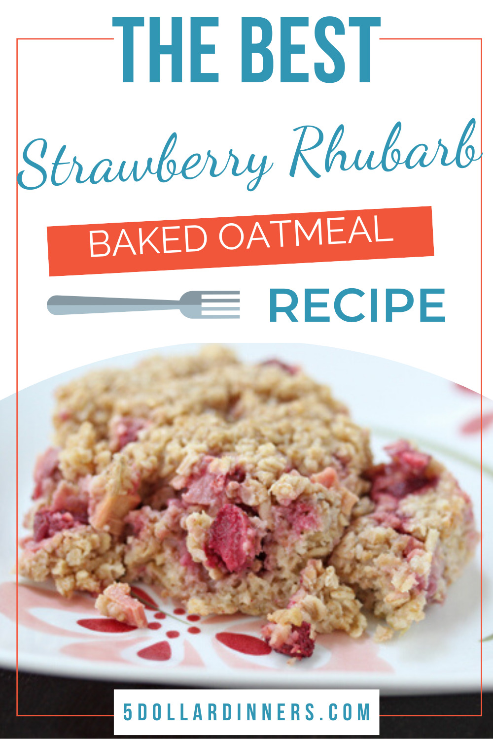 strawberry rhubarb baked oatmeal