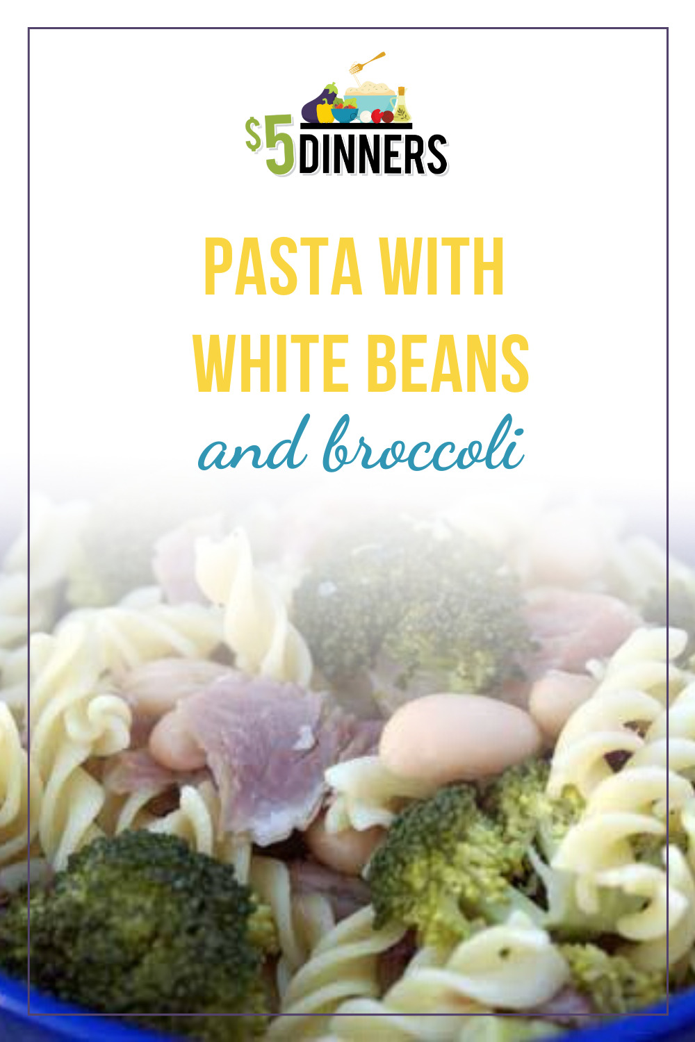 pasta with white beans and broccoli