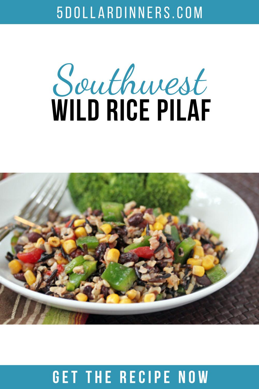 southwest wild rice pilaf