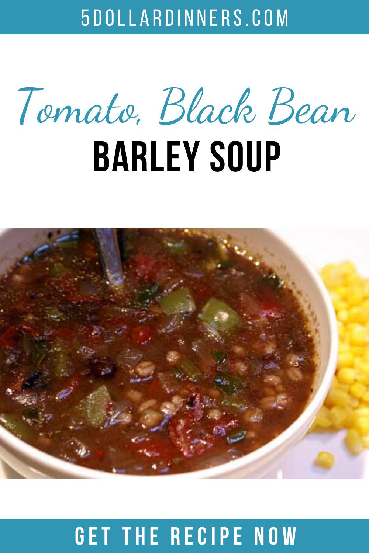 tomato black bean barley soup