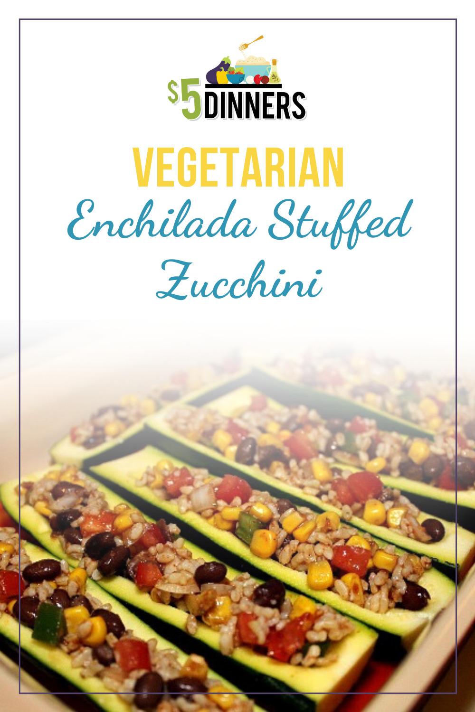 vegetarian enchilada stuffed zucchini