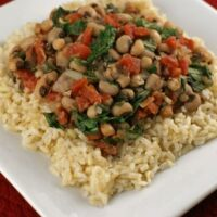 Brown Rice with Black-eyed Peas and Greens