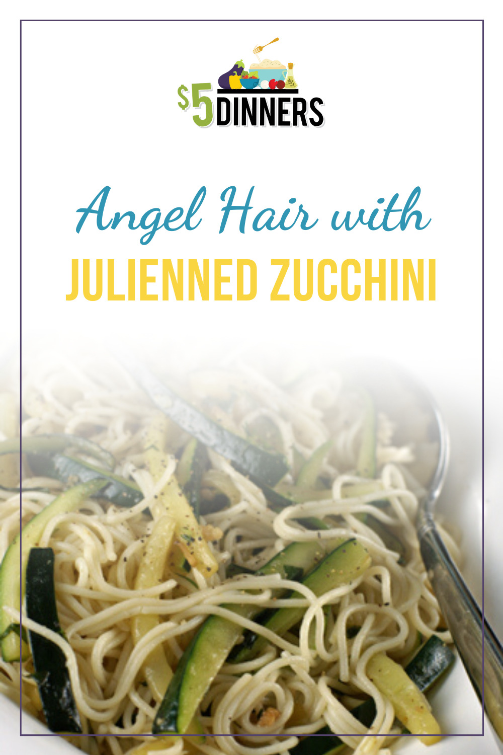 angel hair with julienned zucchini