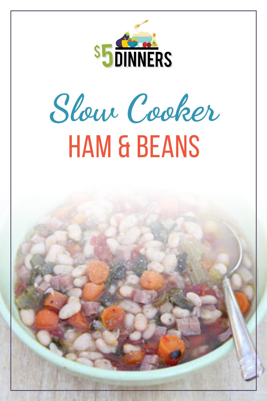 slow cooker ham & beans