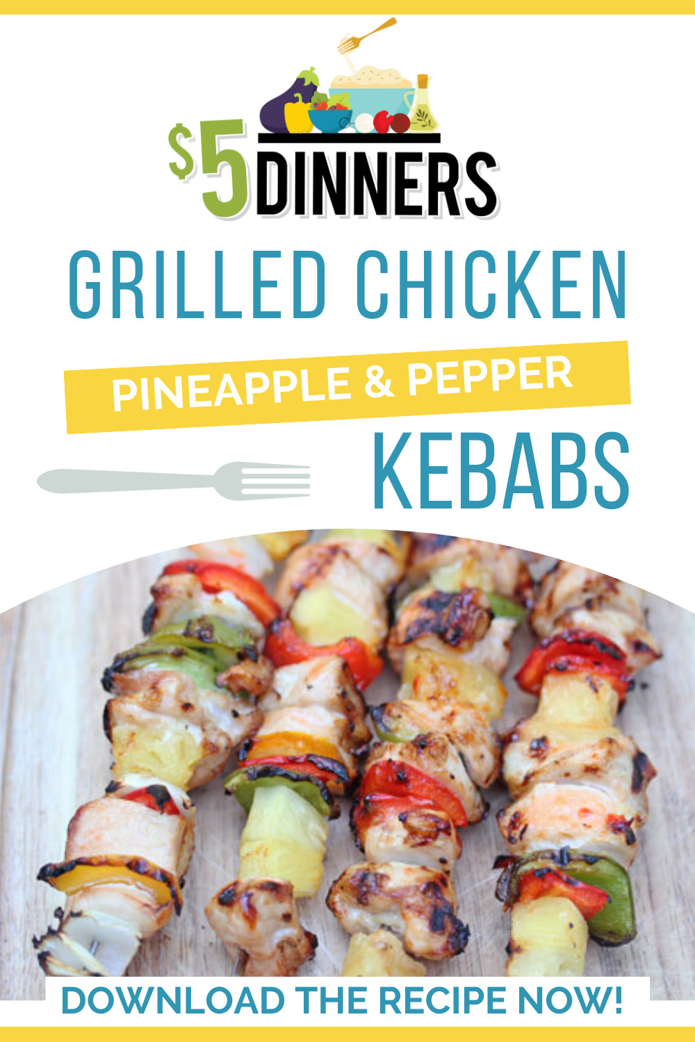 chicken pineapple pepper kebabs