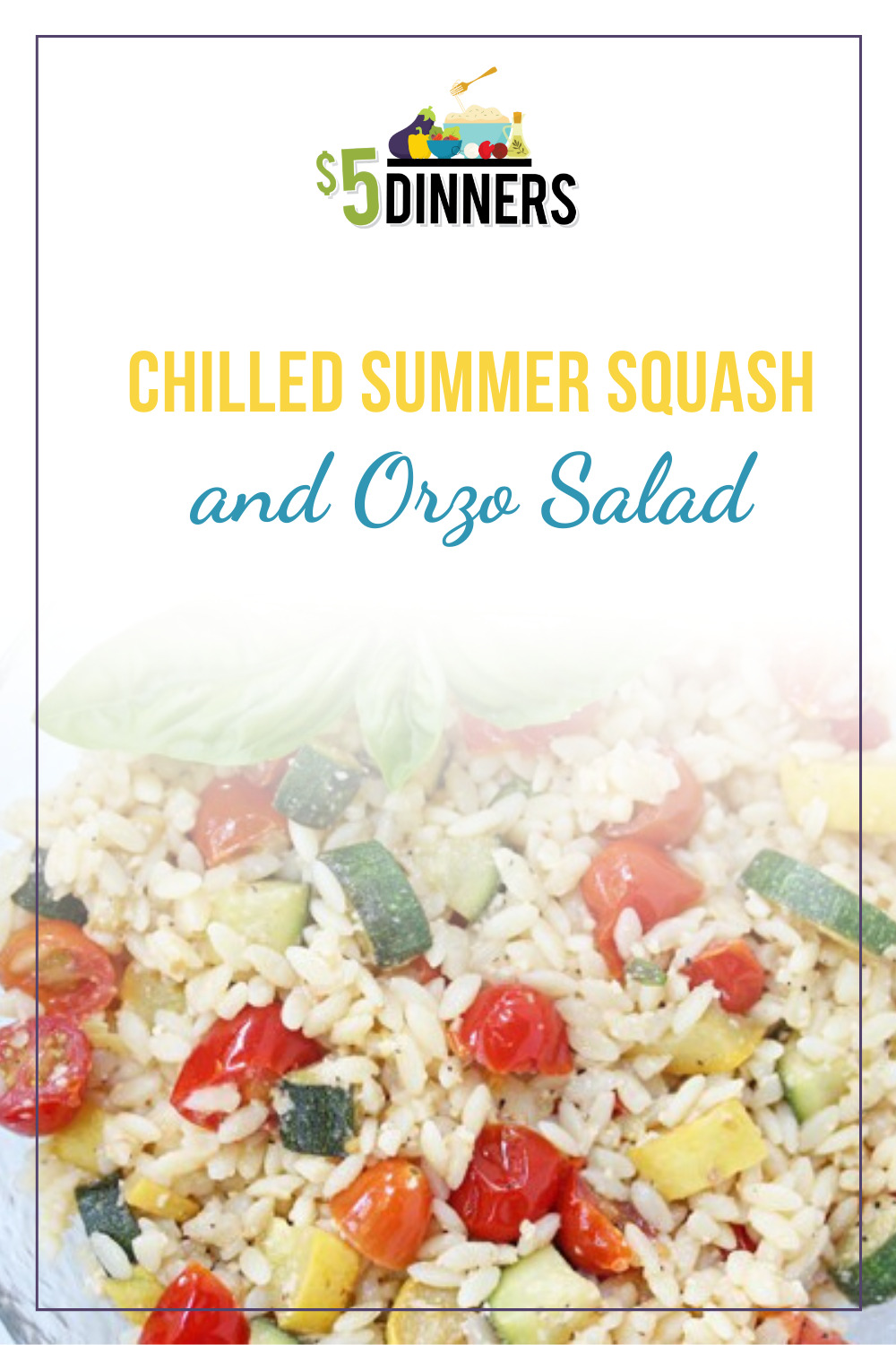 chilled summer squash and orzo salad
