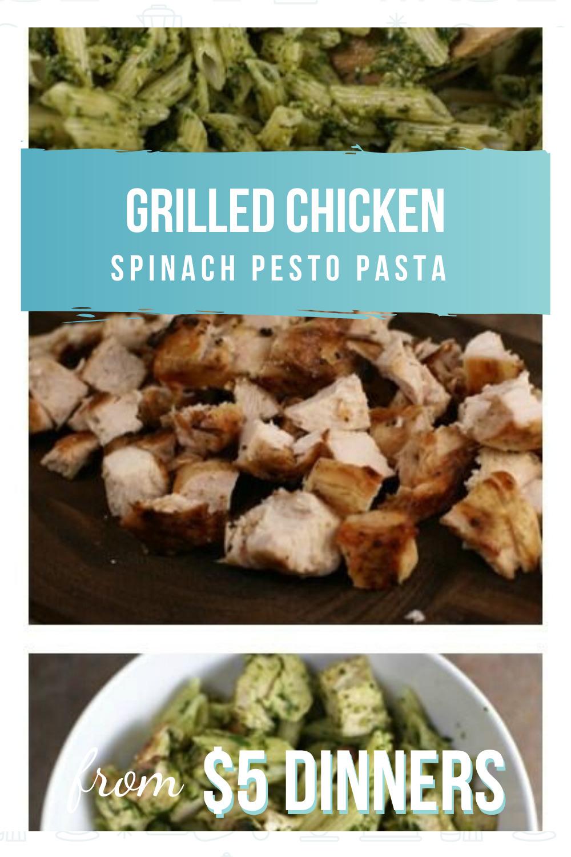 grilled chicken spinach pesto pasta