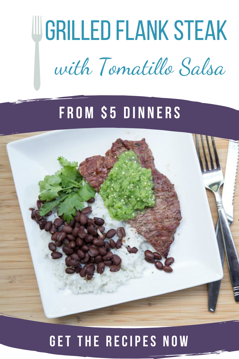grilled flank steak with tomatillo salsa