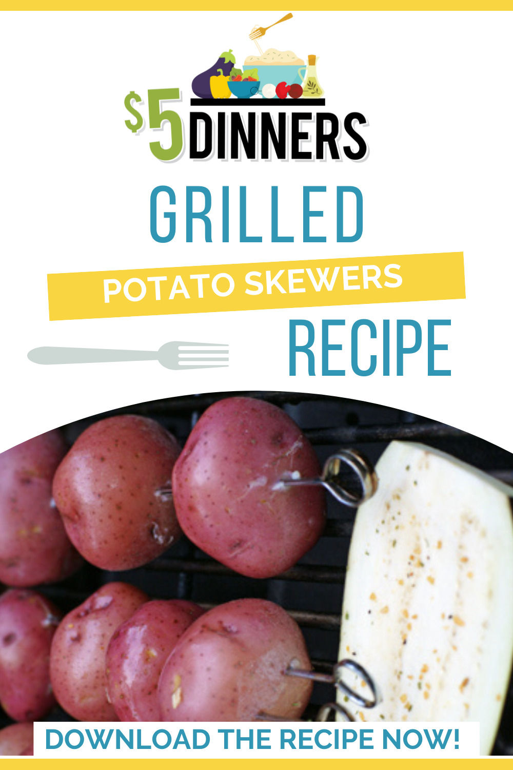 grilled potato skewers