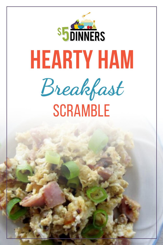 hearty ham breakfast scramble