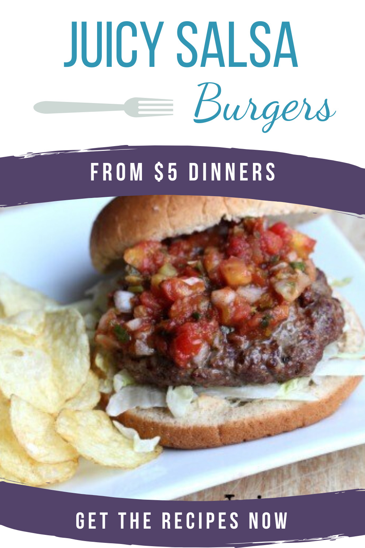 juicy salsa burgers