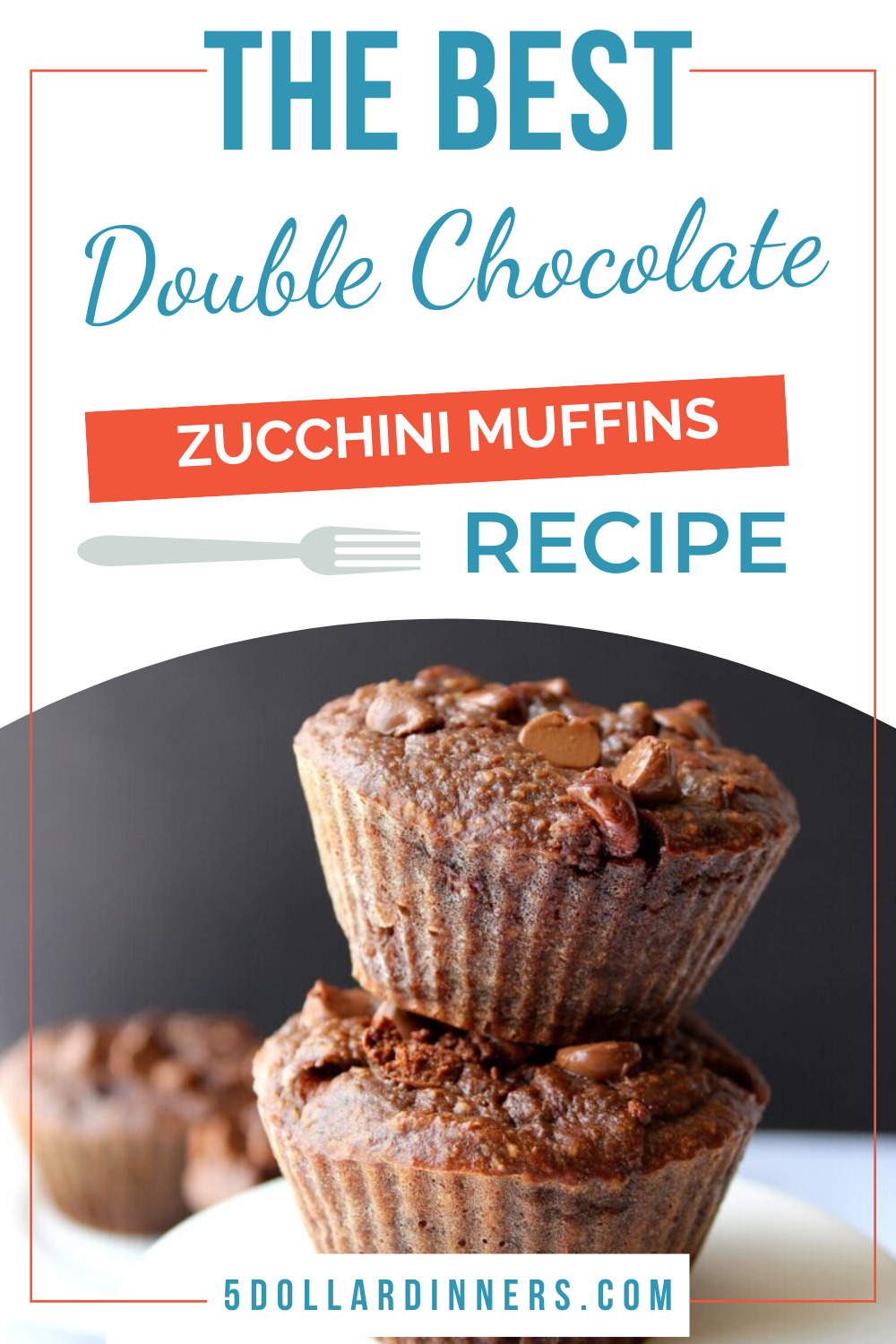 double chocolate zucchini muffins