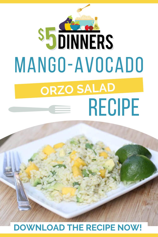 mango avocado orzo salad