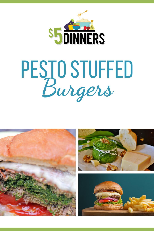 pesto stuffed burgers