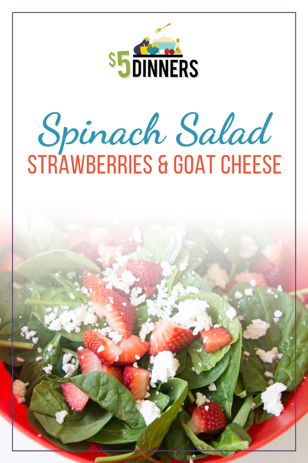 spinach salad with strawberries & goat cheese