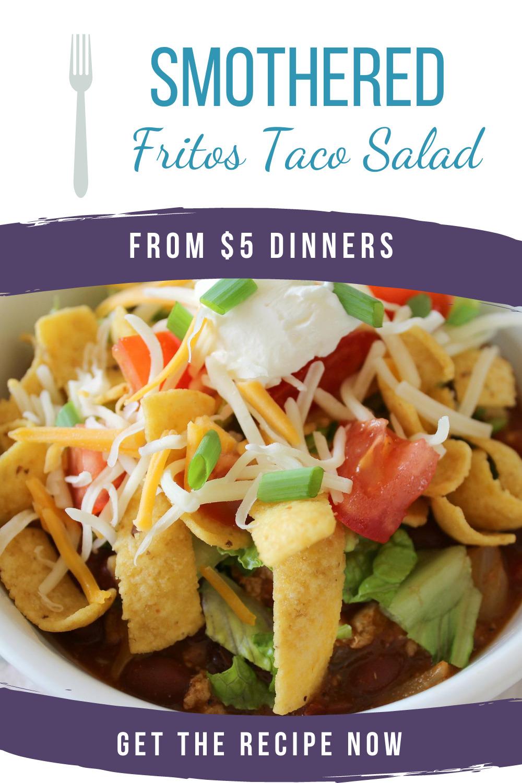 slow cooker smothered fritos taco salad