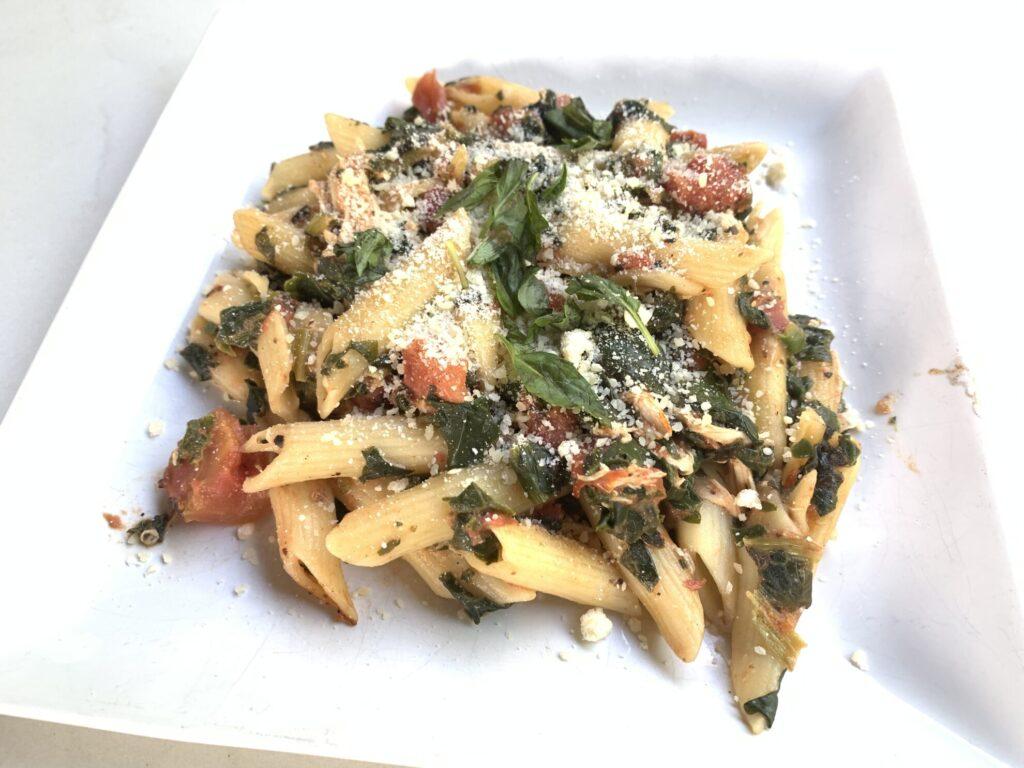 rotisserie chicken tuscan pasta