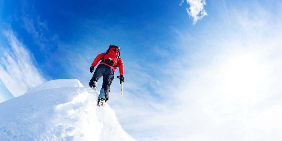 snow mountain man challenge climber
