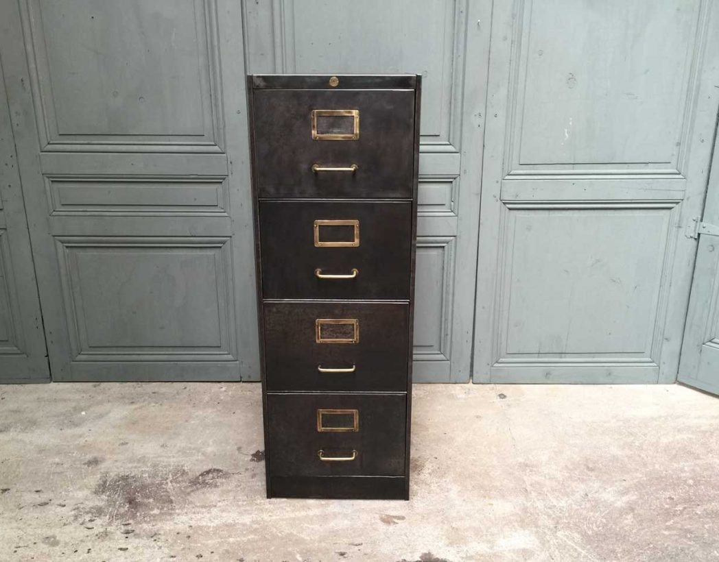 ancien casier 4 tiroirs roneo 2