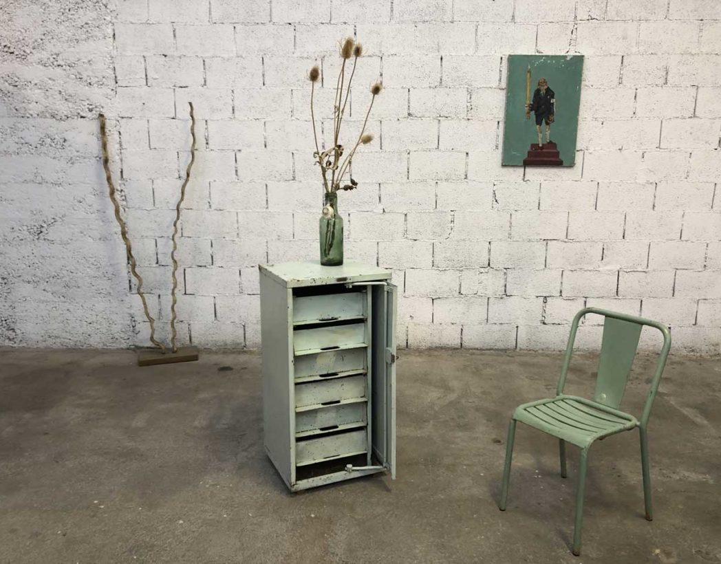 petit meuble d atelier morgan en metal avec tiroirs style industriel