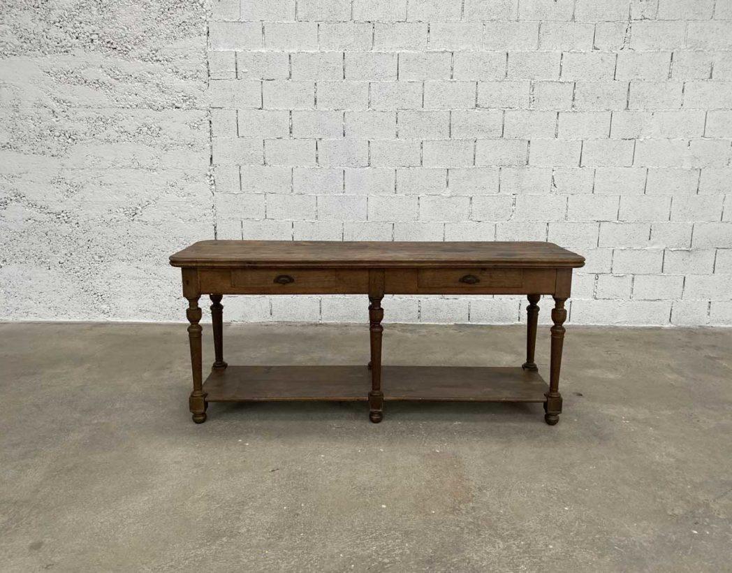 ancienne petite table de drapier en chene massif longueur 200 cm