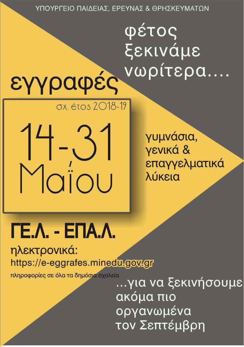 ΕΓΓΡΑΦΕΣ ΓΕΛ