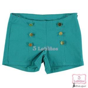 Short niña botones verde bimbalina 5 lobinos