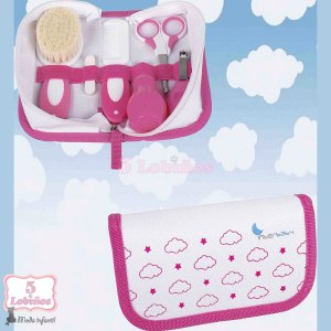 neceser higiénico bebe rosa
