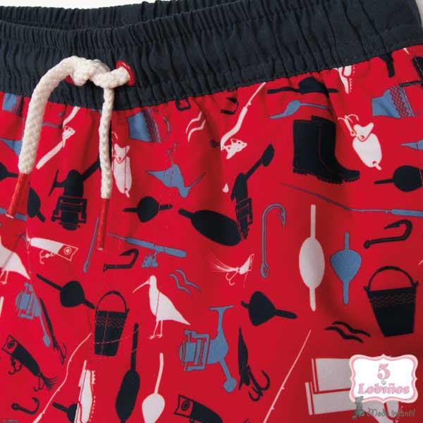 Bañador de tela niño rojo zippy. 2