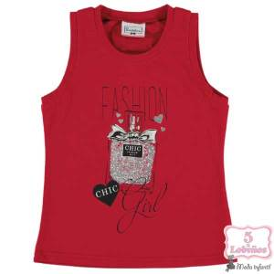 camiseta niña roja bimbalina verano 2021