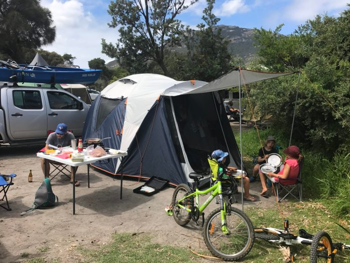 Our setup camping Wilsons Prom